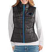 G-III for Her Women's Carolina Panthers Wingback Black Full-Zip Vest
