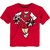Gen2 Toddler Girls' Georgia Bulldogs Red Cheerleader Dreams T-Shirt