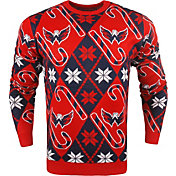 KLEW Men's Washington Capitals Candy Cane Ugly Sweater