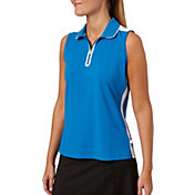 Lady Hagen Women's Watercolor Collection Sleeveless Perforated Golf Polo