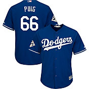 Majestic Men's 2017 World Series Replica Los Angeles Dodgers Yasiel Puig Cool Base Alternate Royal Jersey