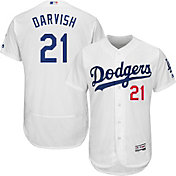 Majestic Men's Authentic Los Angeles Dodgers Yu Darvish #21 Flex Base Home White On-Field Jersey