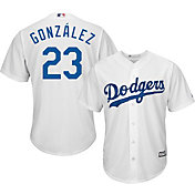 Majestic Men's Replica Los Angeles Dodgers Adrian Gonzalez #23 Cool Base Home White Jersey