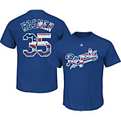 Majestic Men's Kansas City Royals Eric Hosmer #35 Royal Americana T-Shirt