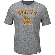 Majestic Men's Houston Astros Exhibition Heathered Grey T-Shirt
