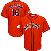 Majestic Men's 2017 World Series Replica Houston Astros Brian McCann Cool Base Alternate Orange Jersey