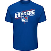 Majestic Men's New York Rangers Home Ice Advantage Blue T-Shirt