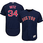 Majestic Men's Authentic Boston Red Sox David Ortiz #34 Flex Base Alternate Navy On-Field Jersey