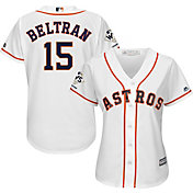Majestic Women's 2017 World Series Champions Replica Houston Astros Carlos Beltran Cool Base Home White Jersey