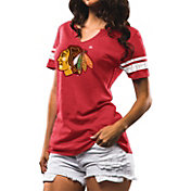 Majestic Women's Chicago Blackhawks Tested Red Notch Neck T-Shirt