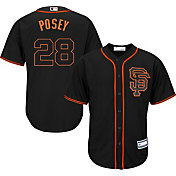 Youth Replica San Francisco Giants Buster Posey #28 Alternate Black Jersey