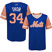 Majestic Youth New York Mets Noah Syndergaard 'Thor' MLB Players Weekend Jersey Top