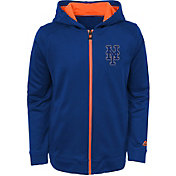 Majestic Youth New York Mets Club Series Royal Full-Zip Hooded Fleece