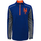 Majestic Youth New York Mets Club Series Royal Quarter-Zip Fleece