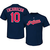 Majestic Youth Cleveland Indians Edwin Encarnacion #10 Navy T-Shirt