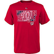 Majestic Youth Washington Nationals Spark Red T-Shirt