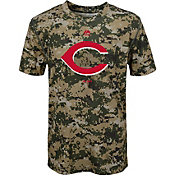 Majestic Youth Cincinnati Reds Cool Base Digi Camo Performance T-Shirt