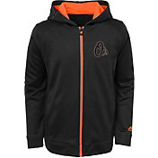 Majestic Youth Baltimore Orioles Club Series Black Full-Zip Hooded Fleece