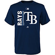 Majestic Youth Tampa Bay Rays Authentic Collection Navy T-Shirt