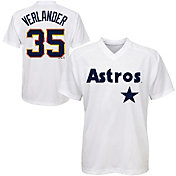 Majestic Youth Houston Astros Justin Verlander #35 White Pullover Jersey