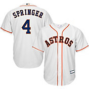 Youth Replica Houston Astros George Springer #4 Home White Jersey