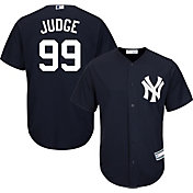 Majestic Youth Replica New York Yankees Aaron Judge #99 Cool Base Alternate Navy Jersey