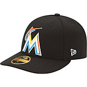 New Era Men's Miami Marlins 59Fifty Alternate Black Low Crown Authentic Hat