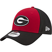 New Era Men's Georgia Bulldogs Red/Black The League Blocked 9FORTY Adjustable Hat
