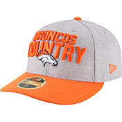New Era Men's Denver Broncos 2018 NFL Draft 59Fifty Fitted Grey Hat