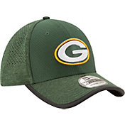 New Era Men's Green Bay Packers 2017 Training Camp 39Thirty Green Stretch Fit Hat