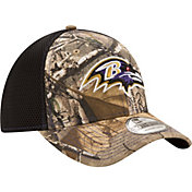 New Era Men's Baltimore Ravens Real Tree Neo 39Thirty Camouflage Flex Hat