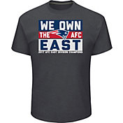 Men's New England Patriots AFC East Division Champs Grey T-Shirt