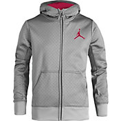 Jordan Boys' Techno Heather Full Zip Hoodie