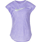 Nike Little Girls' Sublimated Heather Swoosh T-Shirt