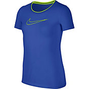 Nike Pro Girls' Cool Fitted Graphic T-Shirt