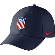 Nike Men's USA Hockey Crest Structured Navy Adjustable Hat
