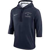 Nike Men's Detroit Tigers Three-Quarter Sleeve Hooded Fleece Pullover