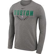 Nike Men's Boston Celtics Dri-FIT Grey Practice Long Sleeve Shirt