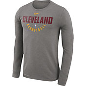 Nike Men's Cleveland Cavaliers Dri-FIT Grey Practice Long Sleeve Shirt