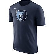 Nike Men's Memphis Grizzlies Dri-FIT Navy Logo T-Shirt