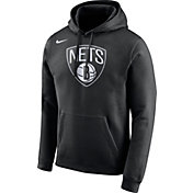 Nike Men's Brooklyn Nets Club Black Pullover Hoodie