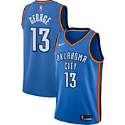 Nike Men's Oklahoma City Thunder Paul George #13 Blue Dri-FIT Swingman Jersey