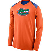 Nike Men's Florida Gators Orange Elite Shooter Long Sleeve Shirt