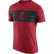 Nike Men's Ohio State Buckeyes Scarlet Logo Basketball T-Shirt