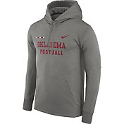 Nike Men's Oklahoma Sooners Grey Football Sideline Therma-FIT Hoodie