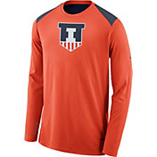 Nike Men's Illinois Fighting Illini Orange Elite Shooter Long Sleeve Shirt