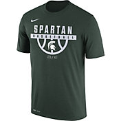 Nike Men's Michigan State Spartans Green ELITE Basketball Legend T-Shirt