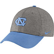 Nike Men's North Carolina Tar Heels Grey/Carolina Blue Heritage86 Heather Adjustable Hat