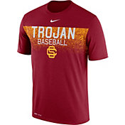 Nike Men's USC Trojans Cardinal Dri-Fit Team Issue Performance Baseball T-Shirt