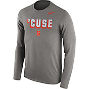 Nike Men's Syracuse Orange Grey Dri-FIT Franchise Long Sleeve T-Shirt